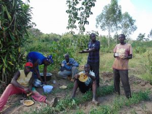 The Water Project:  Community And Artisan Sharing A Meal