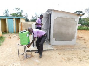 The Water Project:  Handwashing Station At The New Latrines