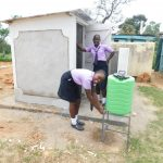 The Water Project: Namanja Secondary School -  Handwashing Station At The New Latrines
