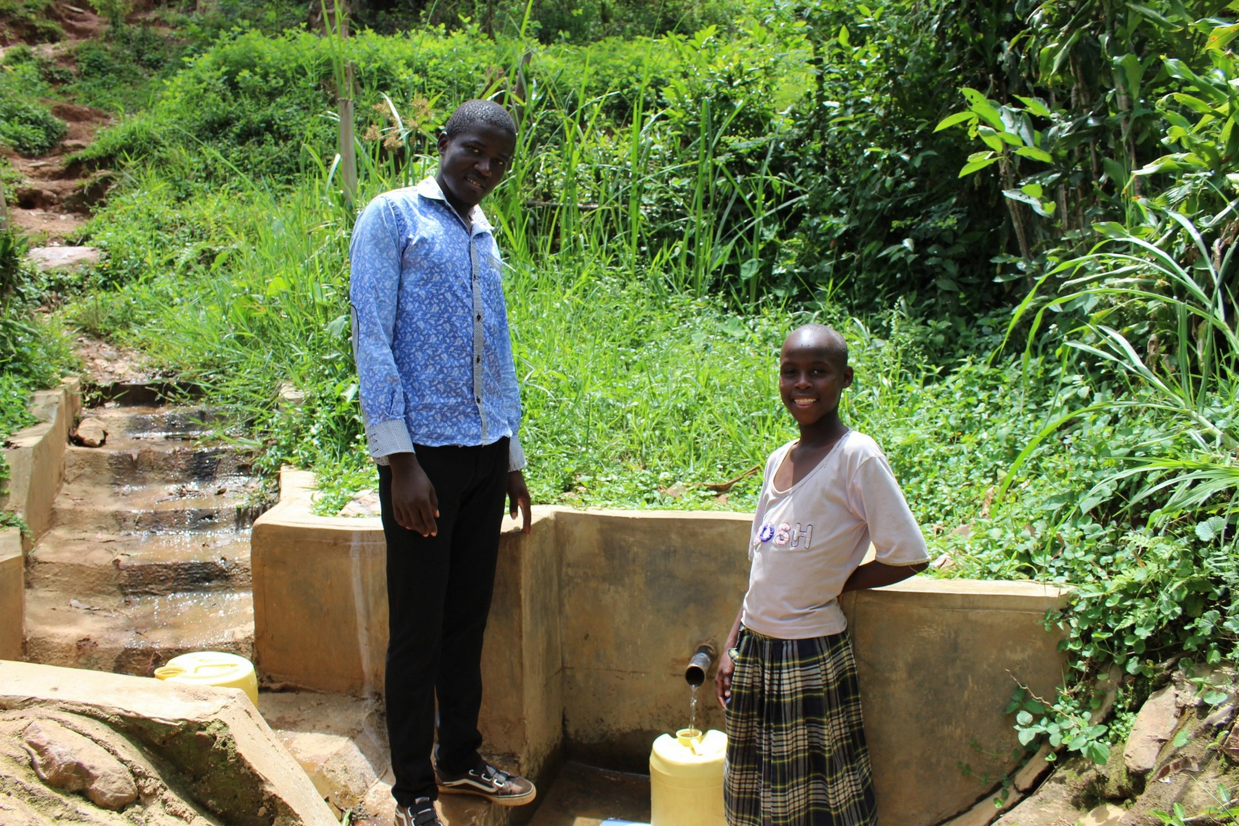 The Water Project : 3-kenya18086-flowing-water-2