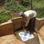 The Water Project: Sharambatsa Community, Mihako Spring -  Peter Imbutsi