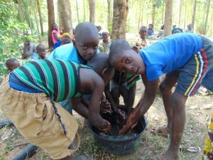 The Water Project:  Children Demonstrating How They Normally Wash Hands