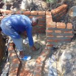 The Water Project: Eshiasuli Community, Eshiasuli Spring -  Bricklaying