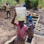 The Water Project: Musango Community, Emufutu Spring -  Getting Water From The Spring Has Never Been Easier