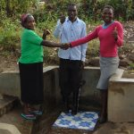 The Water Project: Shiyunzu Community, Imbukwa Spring -  Thumbs Up For Running Water