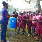 The Water Project: Kitumba Primary School -  Practicing Handwashing