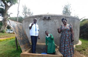 The Water Project:  Field Officer Wilson Student Mercy Head Teacher Patricia
