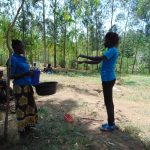 The Water Project: Musango Community, Emufutu Spring -  Learning The Proper Way To Wash Hands