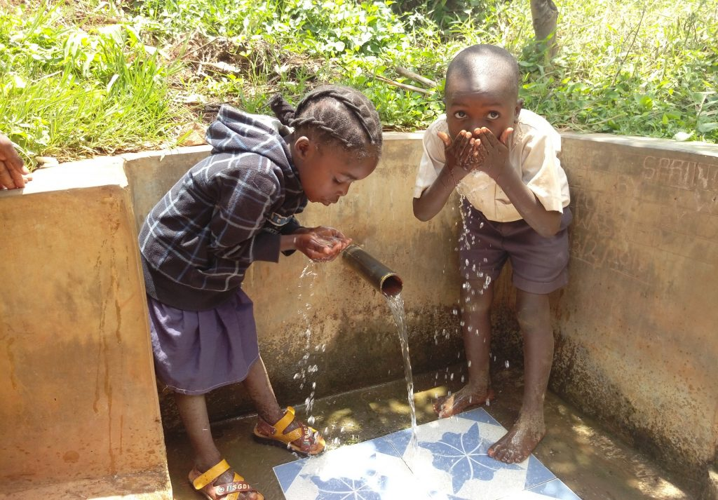 The Water Project : 6-kenya18122-drink-up