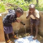 The Water Project: Sharambatsa Community, Mihako Spring -  Drink Up