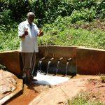 The Water Project: Shilakaya Community, Shanamwevo Spring -  Thumbs Up From John