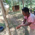 The Water Project: Musango Community, Emufutu Spring -  Using A Tippy Tap