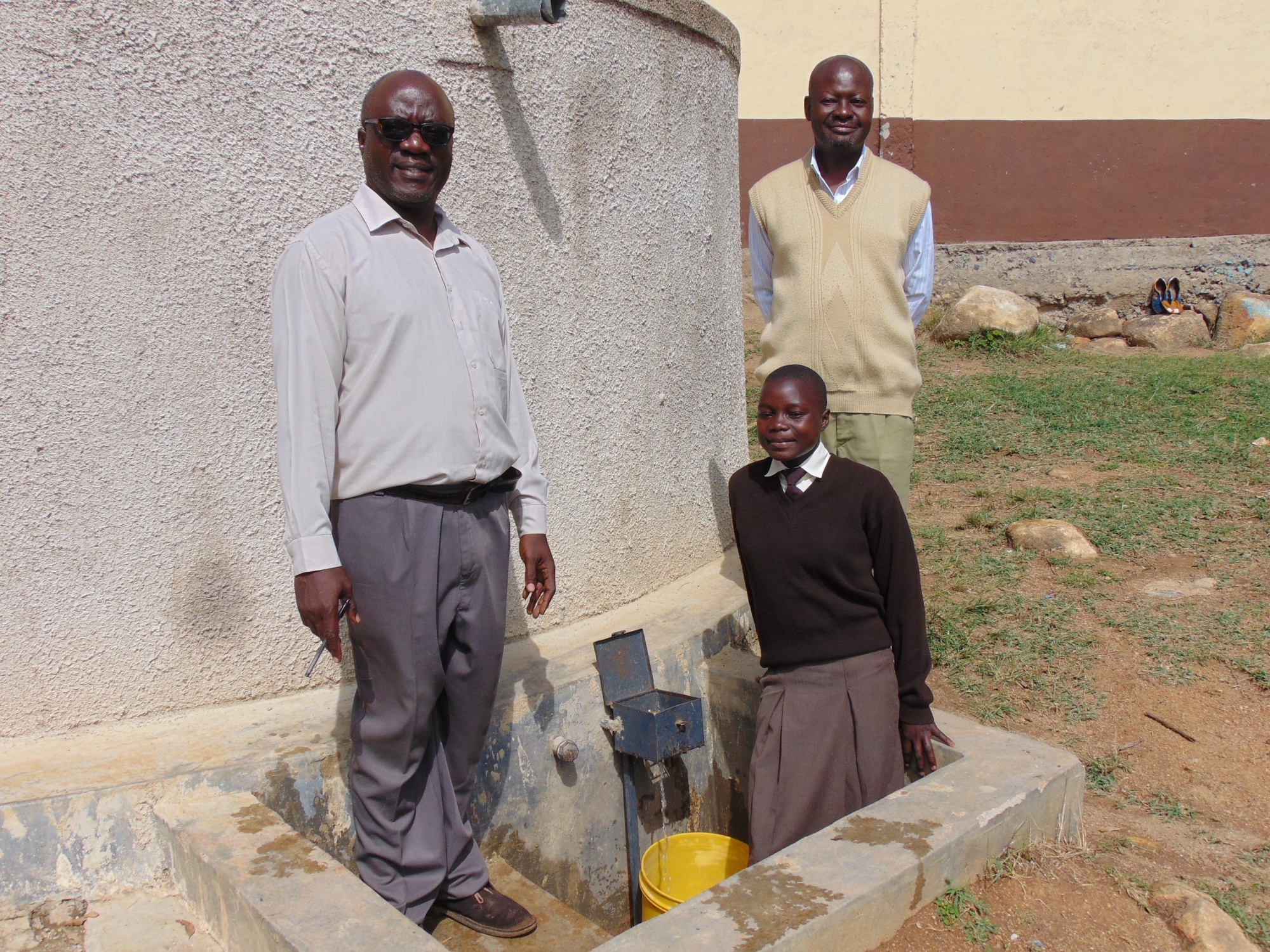 The Water Project : 3-kenya18022-deputy-principal-principal-and-student-pauline