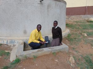 The Water Project:  Field Officer Erick Interviews Student Pauline