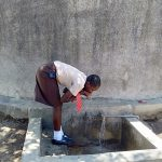The Water Project: Shibale Secondary School -  Linda Takes A Drink