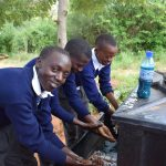 The Water Project: Kikuswi Secondary School -  Boys Washing Their Hands