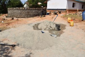 The Water Project:  Cement For Tank