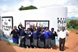 The Water Project:  Students And Staff At The Tank