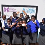 The Water Project: Kikuswi Secondary School -  Students At New Tank