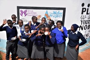The Water Project:  Students At New Tank