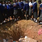 The Water Project: Kikuswi Secondary School -  Students Learn About Proper Waste Management