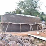 The Water Project: Kikuswi Secondary School -  Tank Nearly Done
