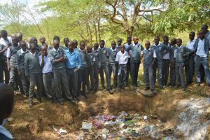The Water Project:  Students Learn About Proper Waste Disposal