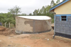 The Water Project:  Tank Cement Drying