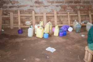 The Water Project:  Student Water Storage Containers Lined Up At The Back Of Class