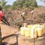 The Water Project: Nyanyaa Secondary School -  Fetching Water