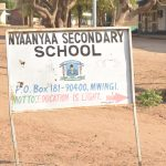 The Water Project: Nyanyaa Secondary School -  School Sign