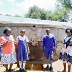 The Water Project: Mumias Complex Primary School -  Senior Teacher Pamela Olwanda Pupils Stephanie And Juma And Wash Staff Karen Maruti
