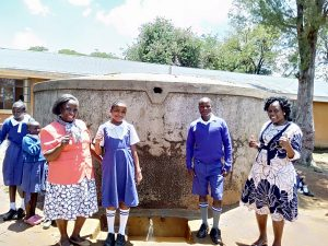 The Water Project:  Senior Teacher Pamela Olwanda Pupils Stephanie And Juma And Wash Staff Karen Maruti