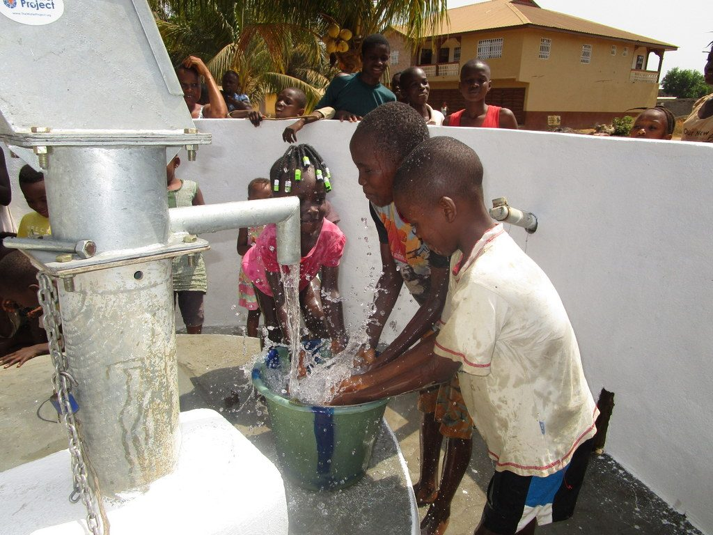 The Water Project : sierraleone19264-children-play-at-the-well-2