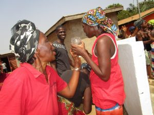 The Water Project:  Old Woman Happy For Safe Drinking Water
