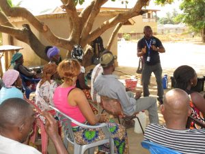 The Water Project:  People Listen During Hygiene Training