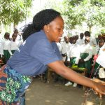 The Water Project: DEC Makassa Primary School -  Tippy Tap Demonstration