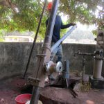 The Water Project: DEC Makassa Primary School -  Yield Test
