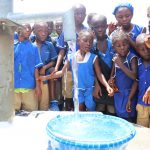 The Water Project: Mahera, SLMB Primary School -  Clean Water Flowing