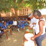 The Water Project: Mahera, SLMB Primary School -  Discussing Handwashing
