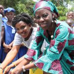 The Water Project: SLMB Primary School -  Head Teacher And Staff Celebrate Water From The Well