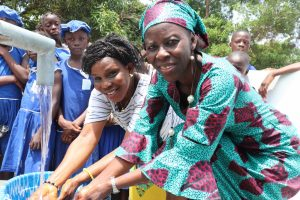 The Water Project:  Head Teacher And Staff Celebrate Water From The Well