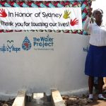The Water Project: Mahera, SLMB Primary School -  School Head Girl Making Statement