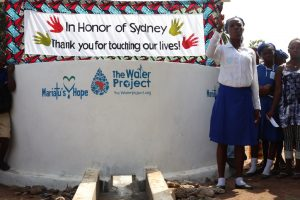 The Water Project:  School Head Girl Making Statement