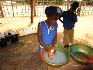 The Water Project:  Student Handwashing Demonstration
