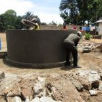 The Water Project: SLMB Primary School -  Nearly Complete Well Pad And Wall