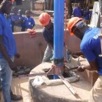 The Water Project: SLMB Primary School -  Well Rehab Underway
