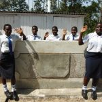 The Water Project: Bululwe Secondary School -  Finished Latrines