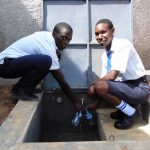 The Water Project: Bululwe Secondary School -  Flowing Water