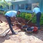 The Water Project: Hombala Secondary School -  Students Help Make Bricks
